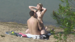 Young Couple Caught Enjoying Public Beach Sex